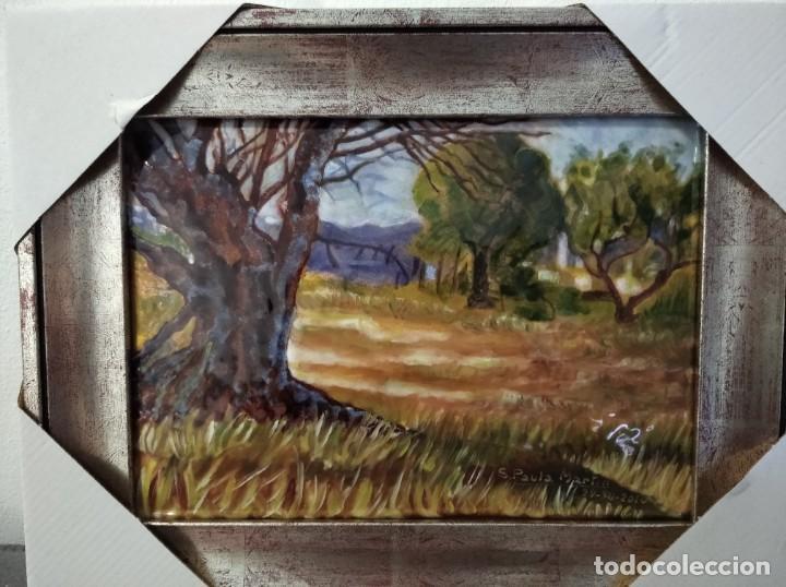 Varios objetos de Arte: PAISAJE 34*26 - ORO DE LEY LIQUIDO - ESMALTE AL FUEGO - SOR PAULA MARTIN - Foto 4 - 189901678