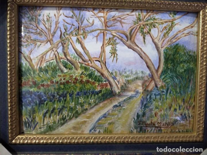 Varios objetos de Arte: PAISAJE 29*22 - ORO DE LEY LIQUIDO - ESMALTE AL FUEGO - SOR PAULA MARTIN - Foto 2 - 189902288