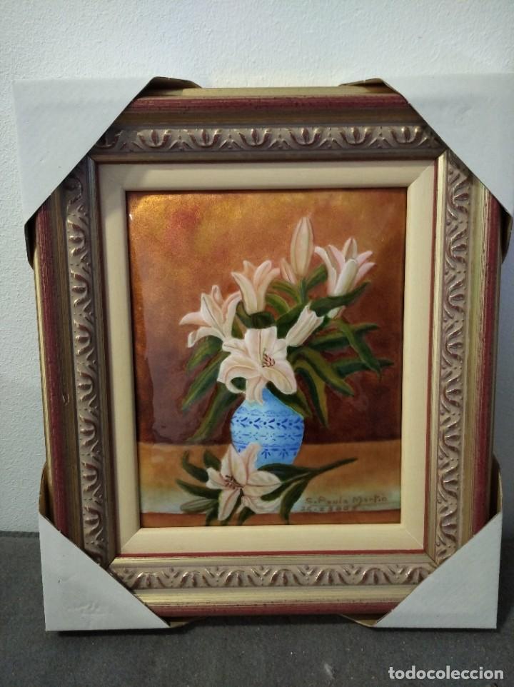 Varios objetos de Arte: JARRÓN CON FLORES 26*29 - ORO DE LEY LIQUIDO - ESMALTE AL FUEGO - SOR PAULA MARTIN - Foto 4 - 189902368