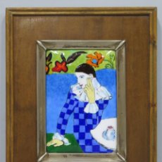Varios objetos de Arte: BONITO ESMALTE DE PICASSO. PLATA. Lote 190066925