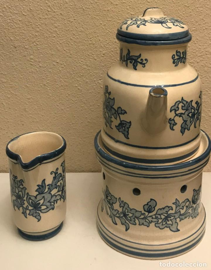 Varios objetos de Arte: tetera con stand y jarrón leche valenciana - Foto 2 - 190228350