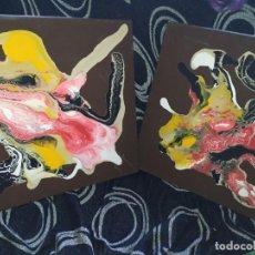 Varios objetos de Arte: LOTE DOS CUADROS ABSTRACTOS PINTADOS POR FAGUSTI ÚNICAS EN TC TÍTULO ALIEN 1 ALIEN 2 AÑO 2010. Lote 190235268