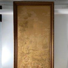 Varios objetos de Arte: A-275. TAPIZ SIGLO XIX ESCENAROMÁNTICA ENMARCADO CON MARCO SIGLO XIX. Lote 190355216