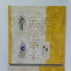 Varios objetos de Arte: MAGNÍFICA PAREJA DE CUADROS MOTIVOS FLORALES. FIRMADOS M.CASANOVA.. Lote 190686621
