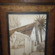 Varios objetos de Arte: ÚNICOS VENTA TC PIROGRABADO PIROGRAFIADO JOSE BRESÓ BARRACA VALENCIANA PRECIOSO. Lote 190859101