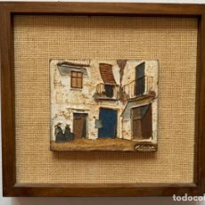 Varios objetos de Arte: XAVIER CABA COMPANY, XAVI CABA * RINCÓN DE UN PUEBLO - CERÁMICA ESMALTADA. FIRMADA. Lote 190871543