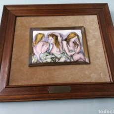 Varios objetos de Arte: PRECIOSO ESMALTE MORNING REFLECTIONS. SHELDOM C. SCHONEBERG. DIMENSIONES TOT 49X35.ESMALTE 17X13 CM. Lote 190912727