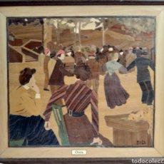 Varios objetos de Arte: GRETA 2000 / CURIOSA OBRA DE MADERA CON SUS COLORES NATURALES. Lote 190920405
