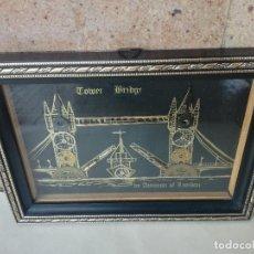 Varios objetos de Arte: ORIGINAL COLLAGE PUENTE DE LA TORRE LONDRES. REALIZADO CON PIEZAS RELOJ ANTIGUO -BY AMMON OF LONDON. Lote 191197567