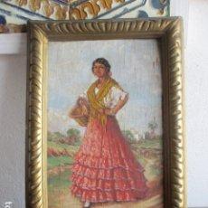 Varios objetos de Arte: TABLA PINTADA ANTIGUA SIGLO XIX. Lote 191401578