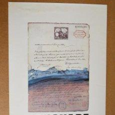 Varios objetos de Arte: GENOVART - CARTEL DE EXPOSICION - GALERIA EUDE - 1981. Lote 191514900