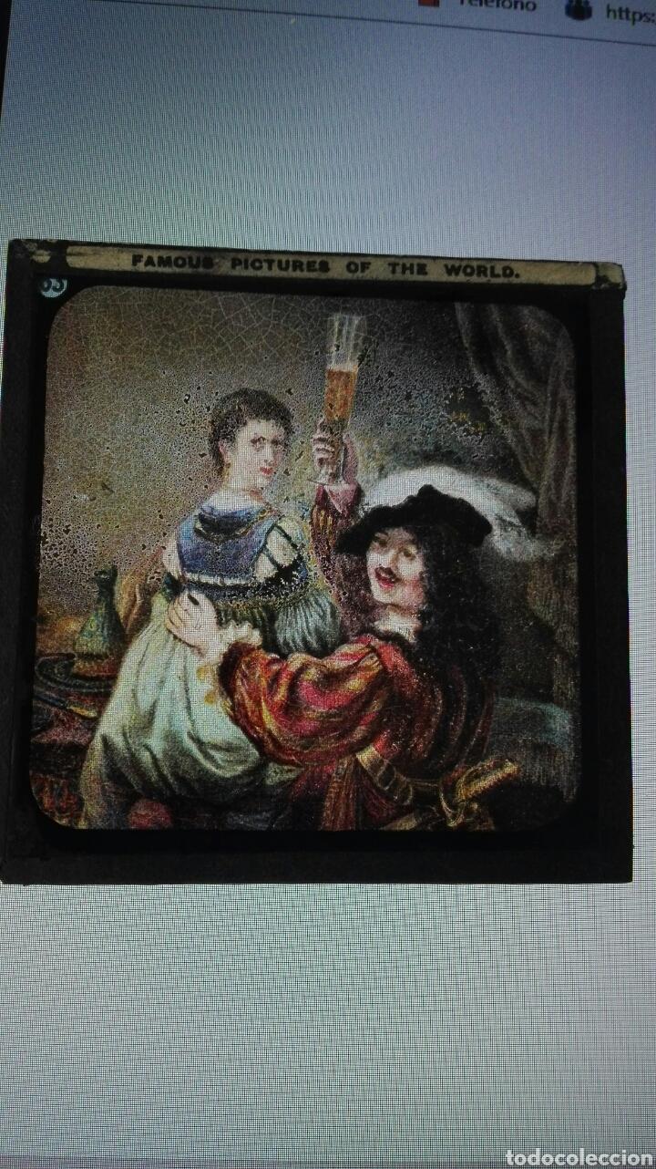 Varios objetos de Arte: ANTIGUAS PLACAS DE CRISTAL PARA LINTERNA MÁGICA. - Foto 3 - 191587595