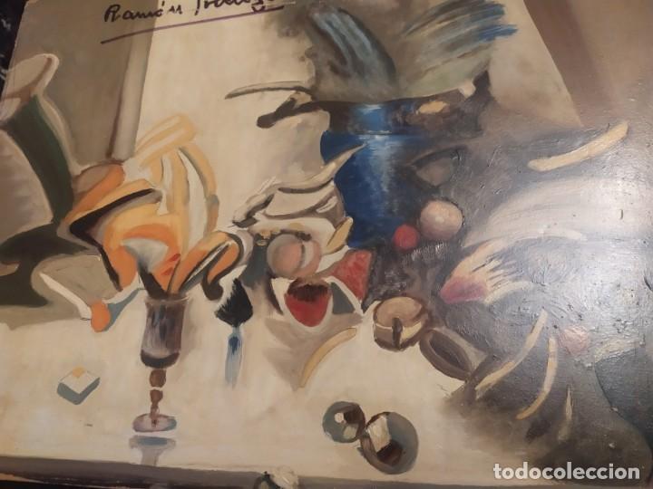 RAMÓN IRANZO ÓLEO SOBRE TABLA BODEGÓN ANTIGUO (Arte - Varios Objetos de Arte)