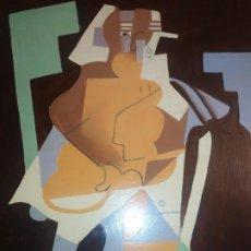 Varios objetos de Arte: ÓLEO SOBRE TABLA PICASIANO ATRIBUIDO A RAMÓN IRANZO ANTIGUO PICASSO VISITE MIS OTROS RAMÓN IRANZO. Lote 191660923