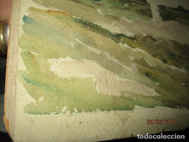Varios objetos de Arte: PINTURA IMPRESIONISTA FIRMADA ANTIGUO PRINCIPIOS DE SIGLO BOCETO EN CARTON DURO - Foto 11 - 174426915