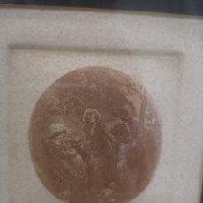 Varios objetos de Arte: DESCONOZCO TÉCNICA, SOBRE PAPEL, MEDALLÓN, ENMARCADO 27X28CM. Lote 192256286