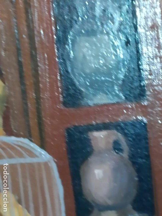 Varios objetos de Arte: PRECIOSO OLEO SOBRE LIENZO SEÑORA CHICA GATO JAULA PÁJAROS VICTORIANA FIRMADO TORRES ANTIGUO ÚNICO? - Foto 6 - 192264233