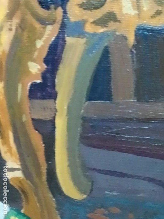 Varios objetos de Arte: PRECIOSO OLEO SOBRE LIENZO SEÑORA CHICA GATO JAULA PÁJAROS VICTORIANA FIRMADO TORRES ANTIGUO ÚNICO? - Foto 12 - 192264233
