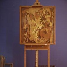 Varios objetos de Arte: GRAN FORMATO MARQUETERÍA EOLO F. GIL ARMAS. Lote 192918358