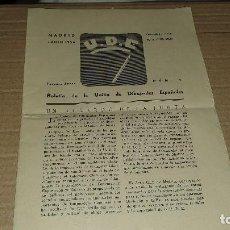 Arte: U.D.E. N°1 RERCERA EPOCA, MADRID 1934, BOLETIN UNION DIBUJANTES ESPAÑOLES. Lote 193358731