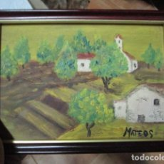 Varios objetos de Arte: PINTURA OLEO FIRMADO MATEOS. Lote 193380043