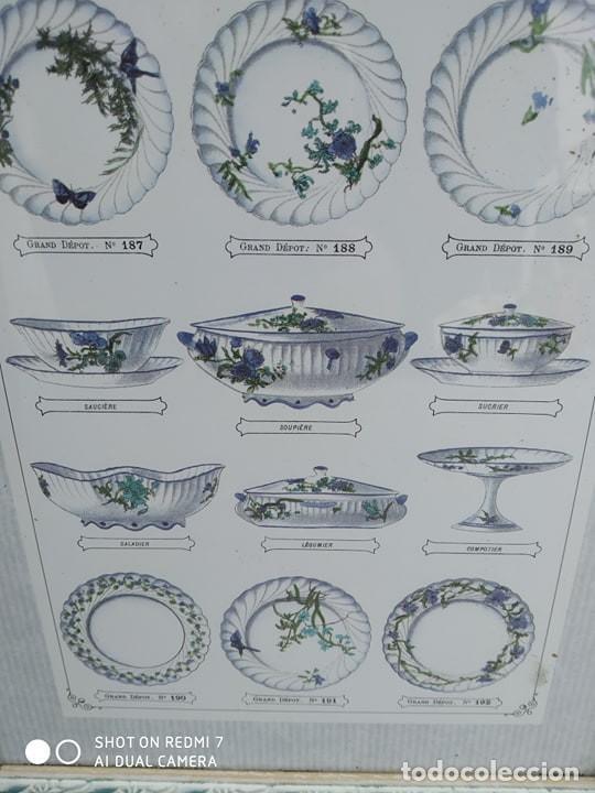 Varios objetos de Arte: cuadro vajilla platos enmarcado en precioso marco vintage coleccion - Foto 2 - 193875712