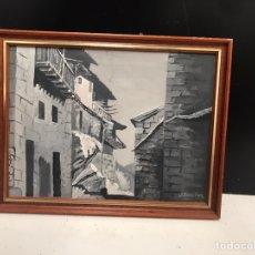 Varios objetos de Arte: CUADRO A CARBONCILLO FIRMADO. Lote 193971857