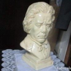 Varios objetos de Arte: BETOVEN PRECIOSO Y ANTIGUO BUSTO DE ESTUCO DE YESO O ESCAYOLA SOBRE 1900. Lote 194182938