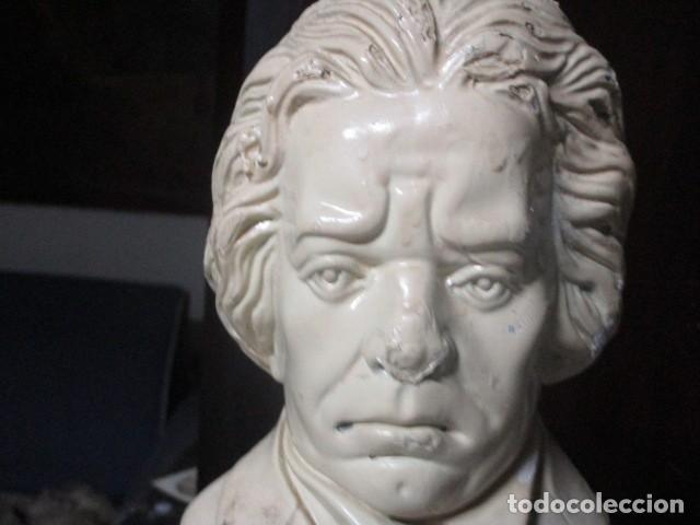 Varios objetos de Arte: betoven precioso y antiguo busto de estuco de yeso o escayola sobre 1900 - Foto 3 - 194182938