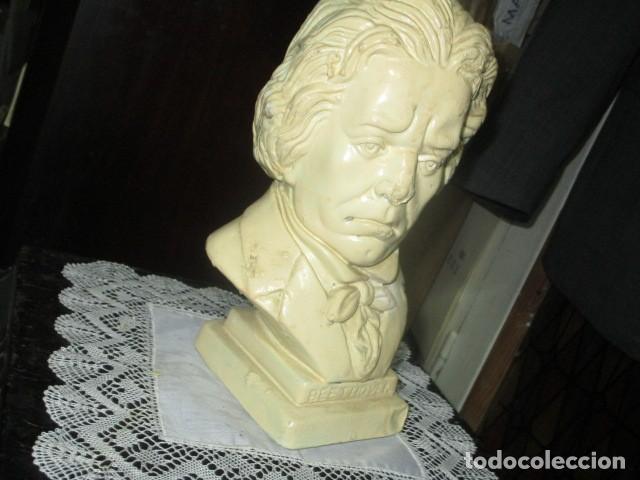 Varios objetos de Arte: betoven precioso y antiguo busto de estuco de yeso o escayola sobre 1900 - Foto 6 - 194182938