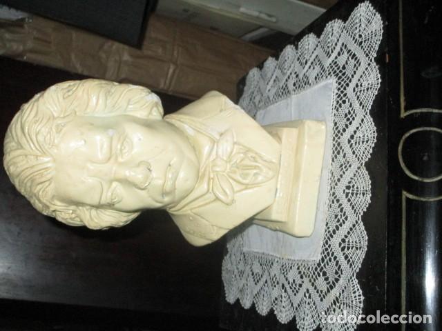 Varios objetos de Arte: betoven precioso y antiguo busto de estuco de yeso o escayola sobre 1900 - Foto 8 - 194182938
