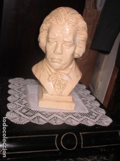 Varios objetos de Arte: betoven precioso y antiguo busto de estuco de yeso o escayola sobre 1900 - Foto 9 - 194182938