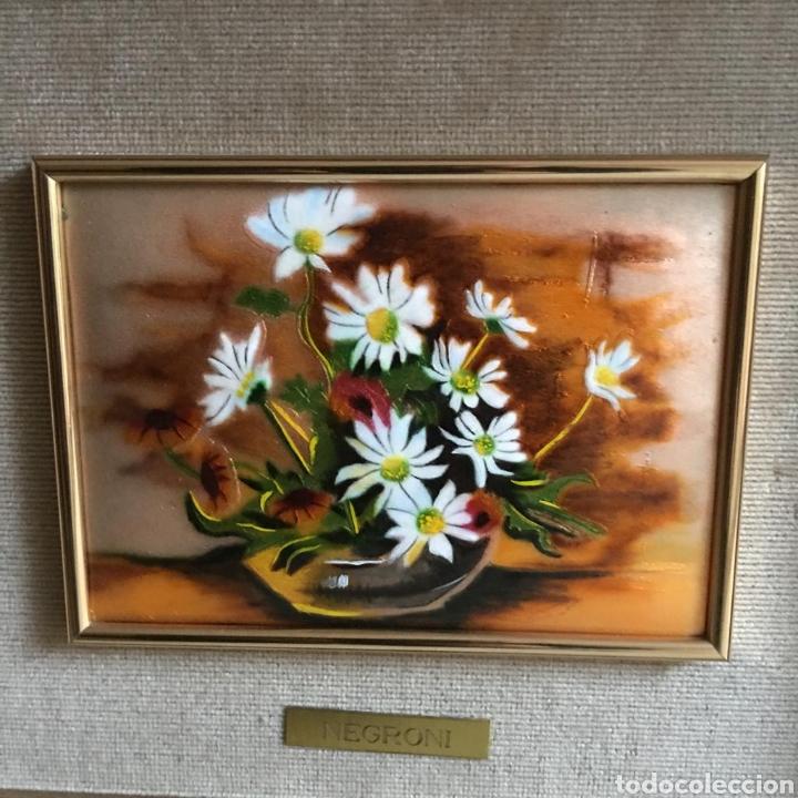 Varios objetos de Arte: pareja de cuadros. esmaltes negroni. - Foto 2 - 194207796