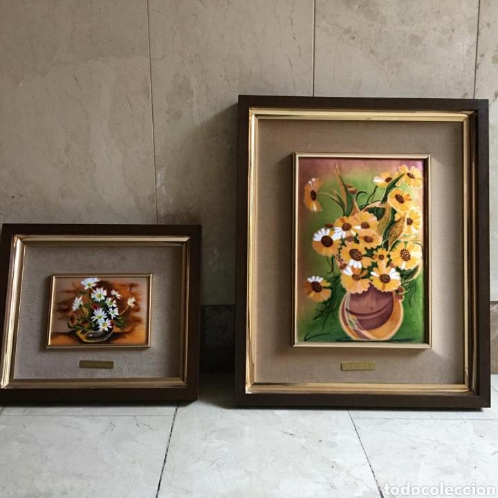 Varios objetos de Arte: pareja de cuadros. esmaltes negroni. - Foto 4 - 194207796