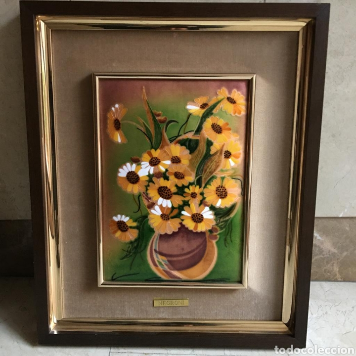 Varios objetos de Arte: pareja de cuadros. esmaltes negroni. - Foto 6 - 194207796