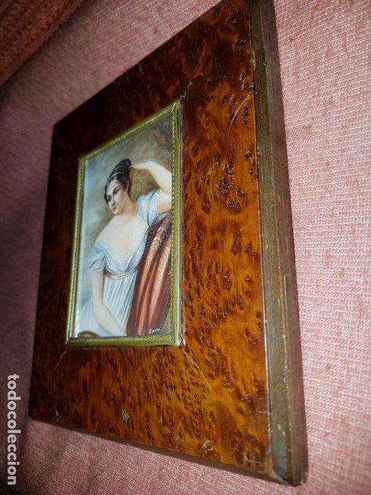 Varios objetos de Arte: MINIATURA FIRMADA. SIGLO XIX - Foto 3 - 194240762