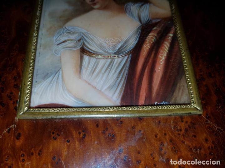 Varios objetos de Arte: MINIATURA FIRMADA. SIGLO XIX - Foto 4 - 194240762