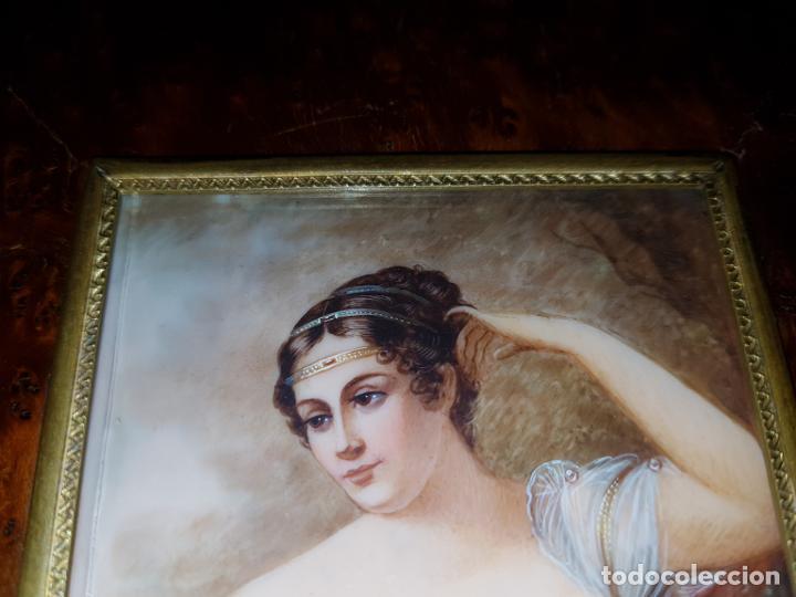 Varios objetos de Arte: MINIATURA FIRMADA. SIGLO XIX - Foto 6 - 194240762
