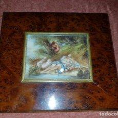 Varios objetos de Arte: MINIATURA FIRMADA. SIGLO XIX . Lote 194241047