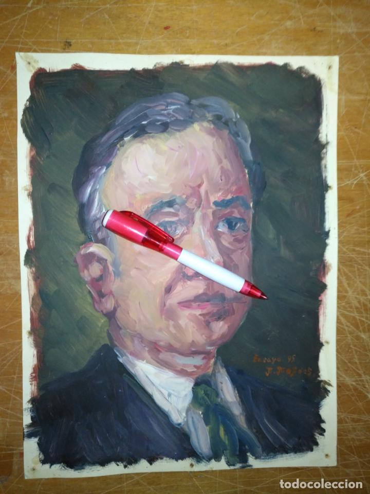 Varios objetos de Arte: ANDRES J MEJIDES PIZARRO CADIZ 23 x 30 cm - antigua pintura ensayo - Foto 3 - 194339978
