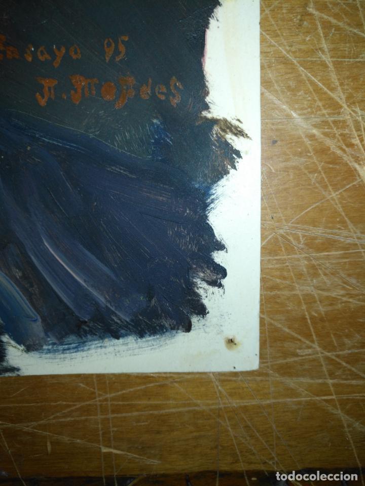 Varios objetos de Arte: ANDRES J MEJIDES PIZARRO CADIZ 23 x 30 cm - antigua pintura ensayo - Foto 4 - 194339978