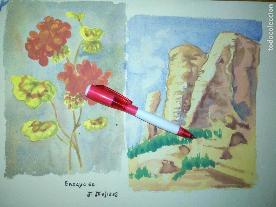 ANDRES J MEJIDES PIZARRO CADIZ 25 X 32 CM - ANTIGUA PINTURA ENSAYO (Arte - Varios Objetos de Arte)