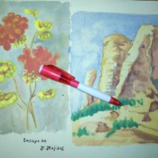 Varios objetos de Arte: ANDRES J MEJIDES PIZARRO CADIZ 25 X 32 CM - ANTIGUA PINTURA ENSAYO. Lote 194341632