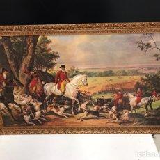Varios objetos de Arte: IMPRESIÓN SOBRE ÓLEO DE ÉPOCA. Lote 194351822