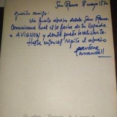 Varios objetos de Arte: CATÁLOGO FIRMADO Y DEDICADO POR CARDONA TORRANDELL.. Lote 194359057
