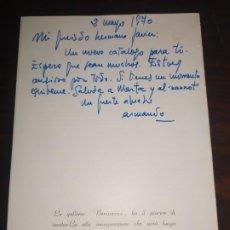 Varios objetos de Arte: CATÁLOGO FIRMADO Y DEDICADO POR CARDONA TORRANDELL. Lote 194359065