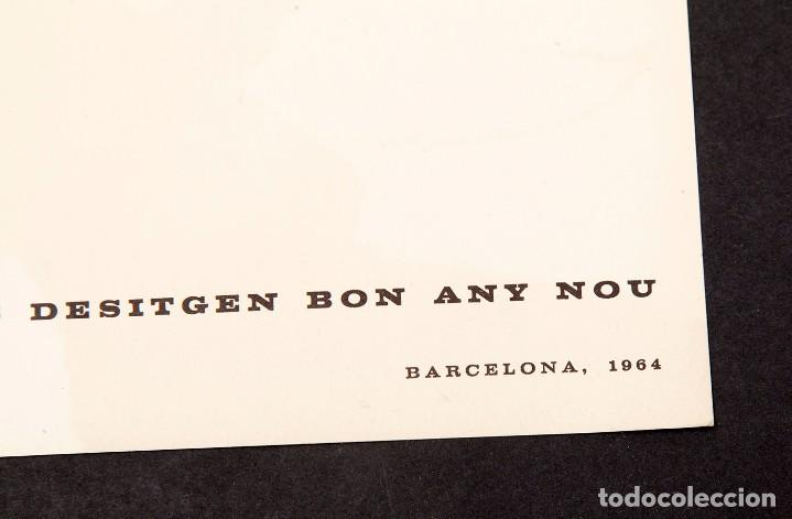 Varios objetos de Arte: JOAN HERNANDEZ PIJUAN - 1964 - TARJETON LITOGRÁFICO - Foto 4 - 194514585