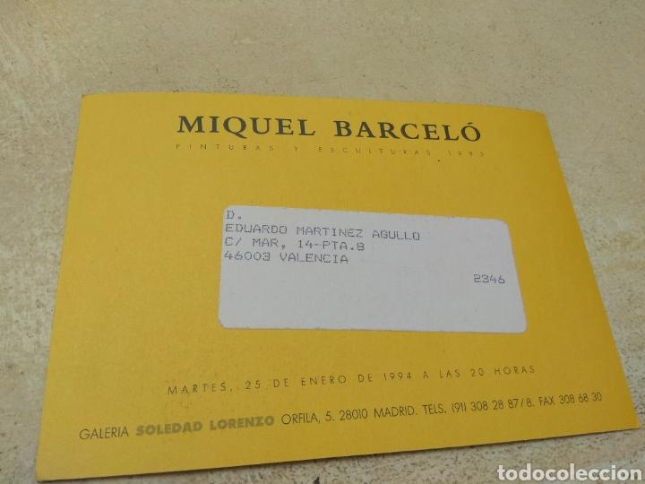 Varios objetos de Arte: Tarjeta Exposición Miquel Barceló año 1994 - Foto 2 - 194520997