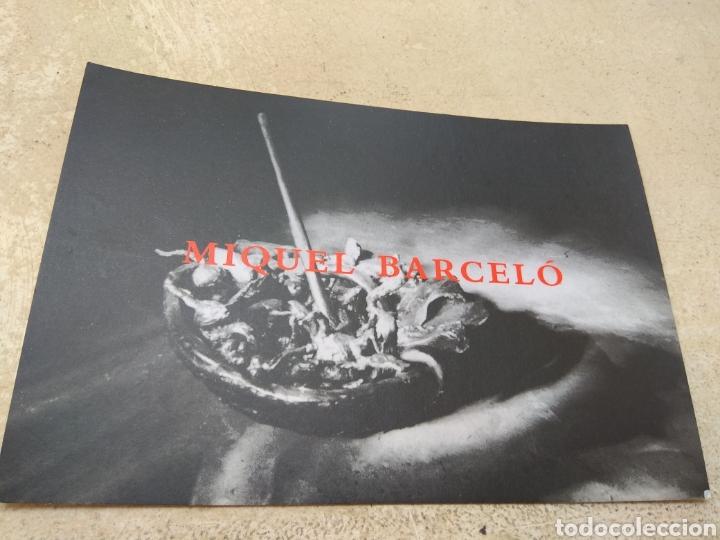TARJETA EXPOSICIÓN MIQUEL BARCELÓ AÑO 1994 (Arte - Varios Objetos de Arte)