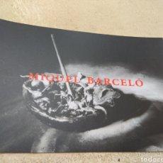 Varios objetos de Arte: TARJETA EXPOSICIÓN MIQUEL BARCELÓ AÑO 1994. Lote 194520997